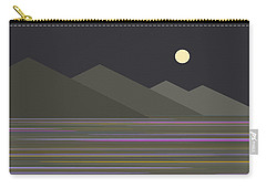 Carry-all Pouch featuring the digital art Shades Of Gray At Night by Val Arie