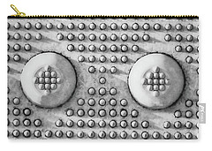 Shades Of Gray Dots Portrait Edition Carry-all Pouch