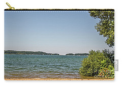 Carry-all Pouch featuring the photograph Shades Of Green And Blue by Sue Smith