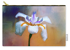 Carry-all Pouch featuring the photograph Shades Of Iris by Carolyn Marshall