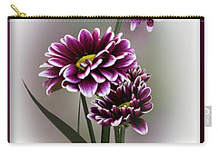 Carry-all Pouch featuring the photograph Shades Of Purple by Judy Johnson