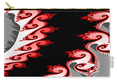 Shades Of Red And Gray Carry-all Pouch