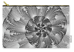 Shades Of Silver Carry-all Pouch by Lea Wiggins