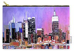 Carry-all Pouch featuring the painting Shades Of Twilight by Donna Blossom