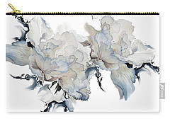 Carry-all Pouch featuring the painting Shades Of White Peony by Hanne Lore Koehler