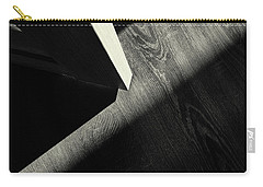 Carry-all Pouch featuring the photograph Shadow Light Door Abstract One by John Williams