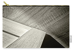 Carry-all Pouch featuring the photograph Shadow Light Door Abstract Two by John Williams