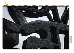 Carry-all Pouch featuring the photograph Shadow Of Foam Abstract One by John Williams