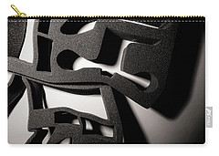 Carry-all Pouch featuring the photograph Shadow Of Foam Abstract Two by John Williams