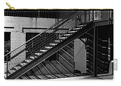 Shadow Of Stairs In Mono Carry-all Pouch by Christopher McKenzie