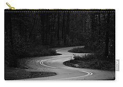 Carry-all Pouch featuring the photograph Shadows In Monochrome by Parker Cunningham