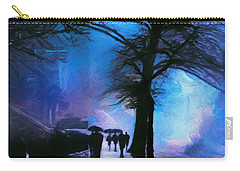 Shadows In The Rain Carry-all Pouch by John Rivera