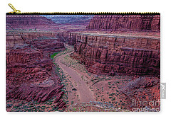 Carry-all Pouch featuring the photograph Shafer Canyon At Sunset - Moab - Utah by Gary Whitton