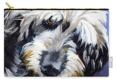 Shaggy Dog Portrait Carry-all Pouch by Alice Leggett