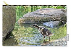 Carry-all Pouch featuring the photograph Shake It Off by Kate Brown