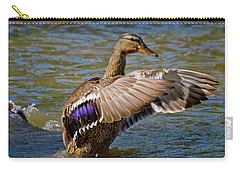 Carry-all Pouch featuring the photograph Shake It Off by Linda Unger