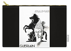 Carry-all Pouch featuring the digital art Shalimar by ReInVintaged