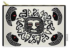 Carry-all Pouch featuring the digital art Shaman Sun Spirits by Vagabond Folk Art - Virginia Vivier