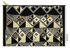 Carry-all Pouch featuring the digital art Shaman Tribal Kuba by Vagabond Folk Art - Virginia Vivier