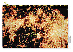 Carry-all Pouch featuring the photograph Shanghai From Space by Delphimages Photo Creations
