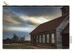 Carry-all Pouch featuring the photograph Shaniko Schoolhouse by Cat Connor