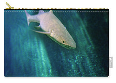 Carry-all Pouch featuring the photograph Shark And Anchor by Jill Battaglia