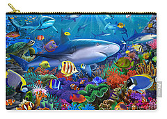 Shark Reef Carry-all Pouch by Gerald Newton
