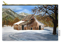 Shasta Winter Barn Carry-all Pouch by LaVonne Hand
