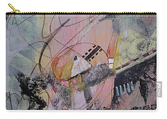 Carry-all Pouch featuring the mixed media She Got Lost On Purpose by Robin Maria Pedrero