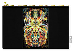 Carry-all Pouch featuring the digital art She Is A Mosaic by Paula Ayers