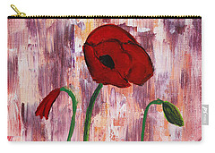 She Loved Red Poppies Carry-all Pouch