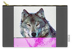 Carry-all Pouch featuring the mixed media She Wolf by Charles Shoup