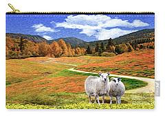 Sheep And Road Ver 2 Carry-all Pouch