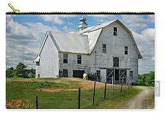 Sheep By The White Barn Carry-all Pouch