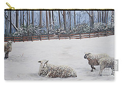 Sheep In Field Carry-all Pouch by Reb Frost