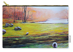 Sheep In Pasture Carry-all Pouch