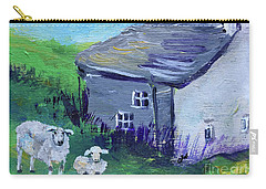 Carry-all Pouch featuring the painting Sheep In Scotland  by Claire Bull