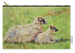 Sheep In The Spring Time,la Vie Est Belle Carry-all Pouch