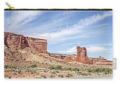 Sheep Rock In Arches National Park Carry-all Pouch by Sue Smith