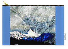 Carry-all Pouch featuring the painting Sheep's Head Peak April Snow II by Anastasia Savage Ealy