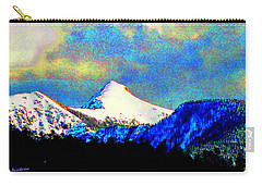 Carry-all Pouch featuring the photograph Sheep's Head Peak After April Snow by Anastasia Savage Ealy