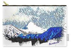 Carry-all Pouch featuring the photograph Sheep's Head Peak April Snow by Anastasia Savage Ealy