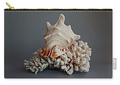 Shell And Coral Carry-all Pouch