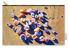 Carry-all Pouch featuring the photograph Shell Collection by Roberta Byram