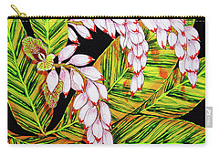 Shell Ginger Flowers Carry-all Pouch