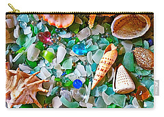 Shells And Glass Carry-all Pouch