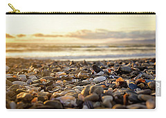 Carry-all Pouch featuring the photograph Shells At Sunset by April Reppucci