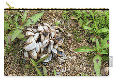 Carry-all Pouch featuring the photograph Shells Of Freshwater Mussels by Michal Boubin