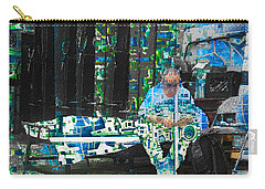 Carry-all Pouch featuring the mixed media Shelter by Tony Rubino