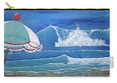 Sheltered Waves Carry-all Pouch by T Fry-Green